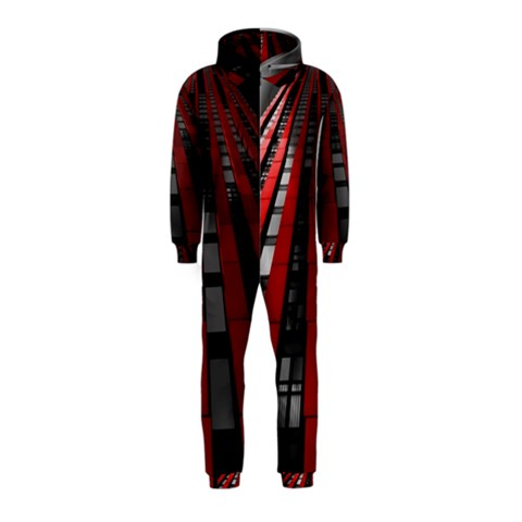 Red Building City Hooded Jumpsuit (Kids)