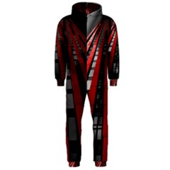 Red Building City Hooded Jumpsuit (Men)