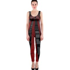 Red Building City OnePiece Catsuit