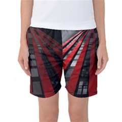 Red Building City Women s Basketball Shorts