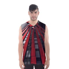 Red Building City Men s Basketball Tank Top