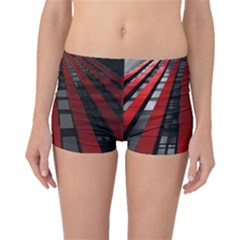 Red Building City Boyleg Bikini Bottoms