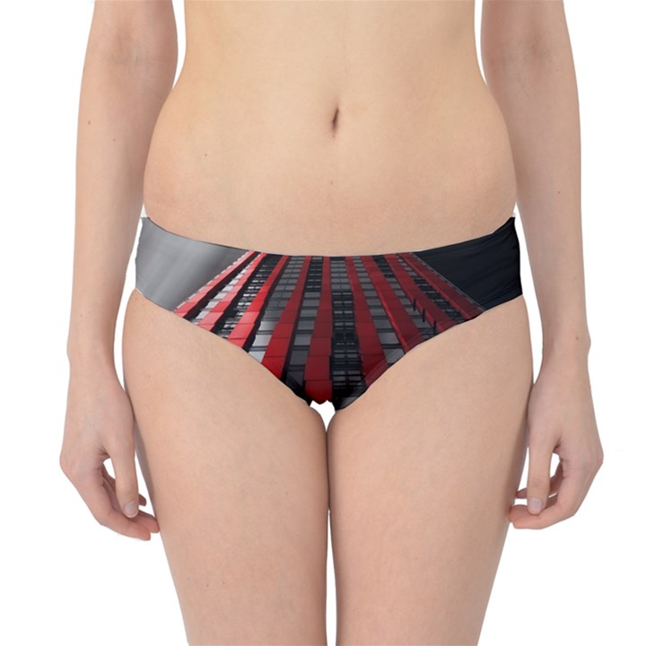 Red Building City Hipster Bikini Bottoms
