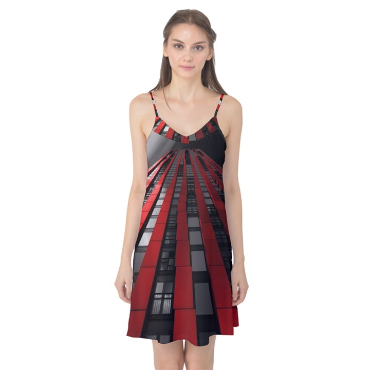 Red Building City Camis Nightgown