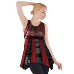 Red Building City Side Drop Tank Tunic