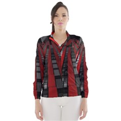 Red Building City Wind Breaker (Women)