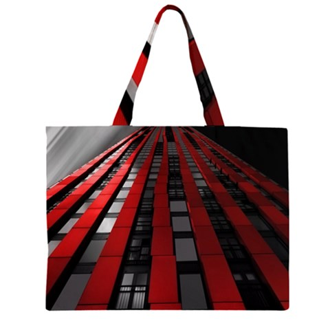 Red Building City Large Tote Bag