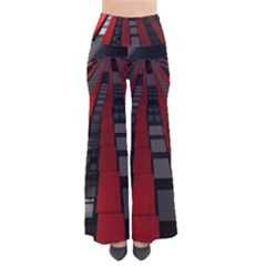 Red Building City Pants