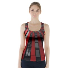 Red Building City Racer Back Sports Top