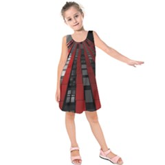 Red Building City Kids  Sleeveless Dress
