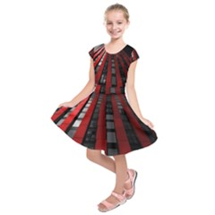 Red Building City Kids  Short Sleeve Dress