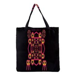 Alphabet Shirt Grocery Tote Bag