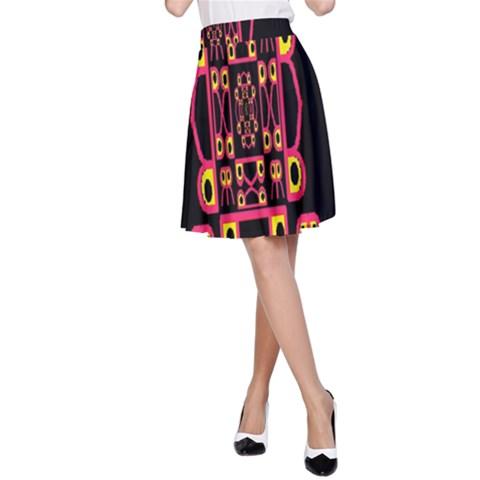 Alphabet Shirt A-Line Skirt
