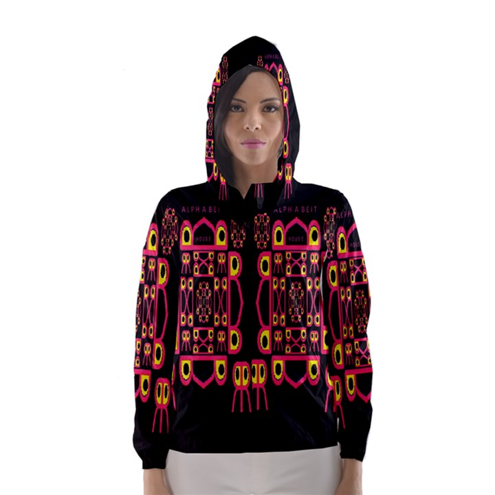 Alphabet Shirt Hooded Wind Breaker (Women)