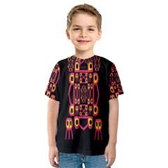 Alphabet Shirt Kids  Sport Mesh Tee