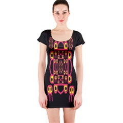 Alphabet Shirt Short Sleeve Bodycon Dress