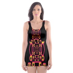 Alphabet Shirt Skater Dress Swimsuit