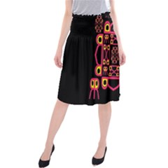 Alphabet Shirt Midi Beach Skirt