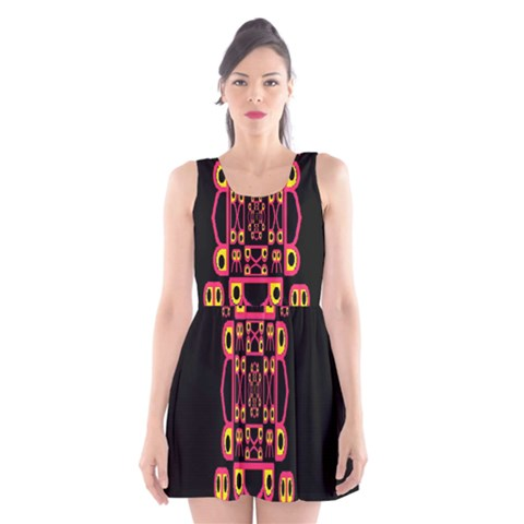 Alphabet Shirt Scoop Neck Skater Dress