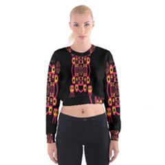 Alphabet Shirt Women s Cropped Sweatshirt