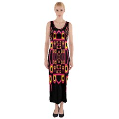 Alphabet Shirt Fitted Maxi Dress