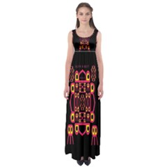 Alphabet Shirt Empire Waist Maxi Dress