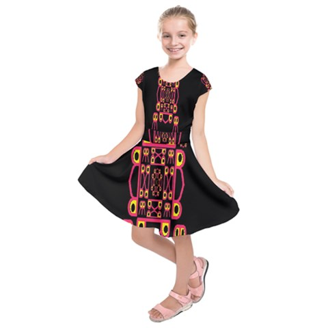 Alphabet Shirt Kids  Short Sleeve Dress