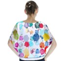 Colorful Diamonds Dream Batwing Chiffon Blouse View2
