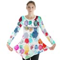 Colorful Diamonds Dream Long Sleeve Tunic  View1