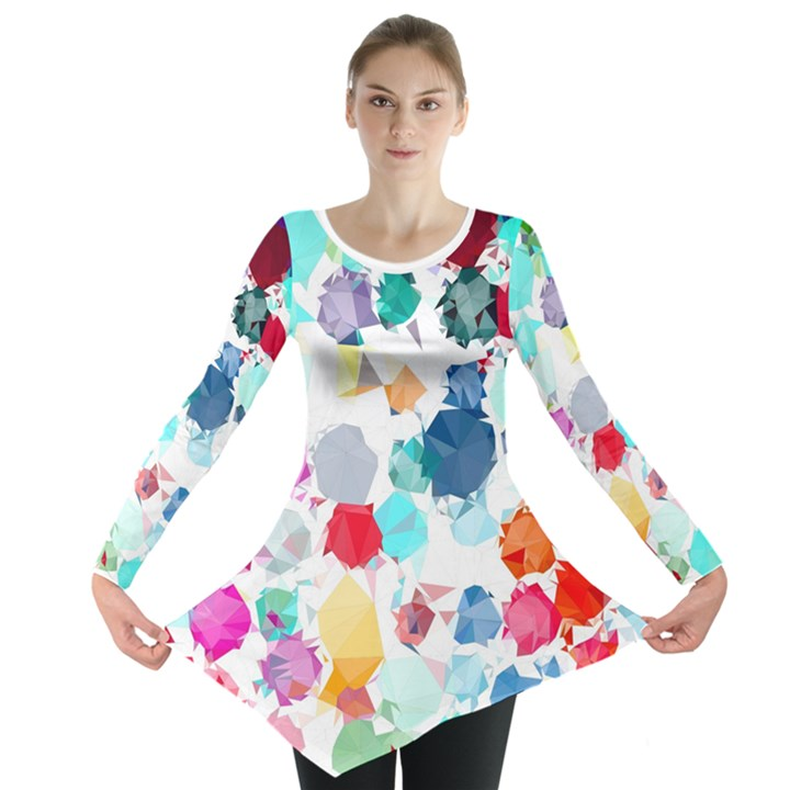 Colorful Diamonds Dream Long Sleeve Tunic