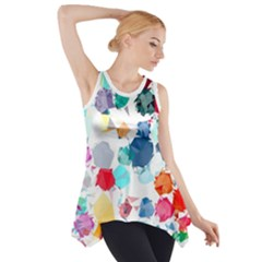 Colorful Diamonds Dream Side Drop Tank Tunic