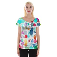 Colorful Diamonds Dream Women s Cap Sleeve Top