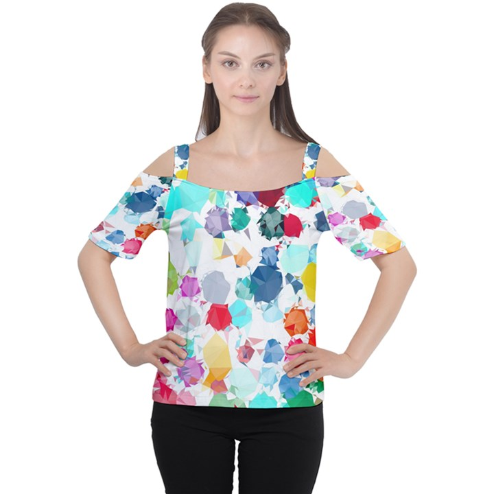 Colorful Diamonds Dream Women s Cutout Shoulder Tee