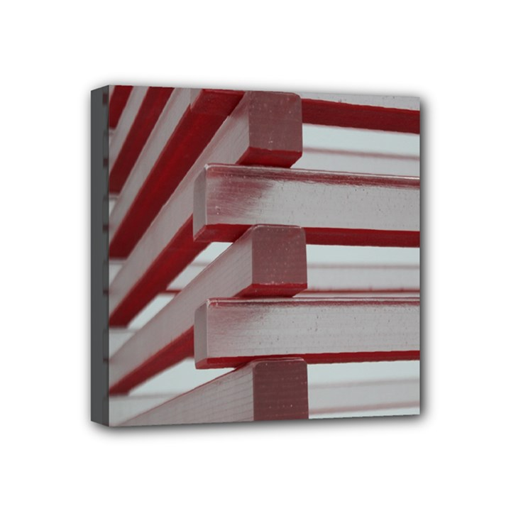 Red Sunglasses Art Abstract  Mini Canvas 4  x 4