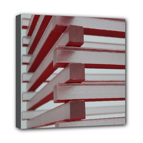Red Sunglasses Art Abstract  Mini Canvas 8  x 8