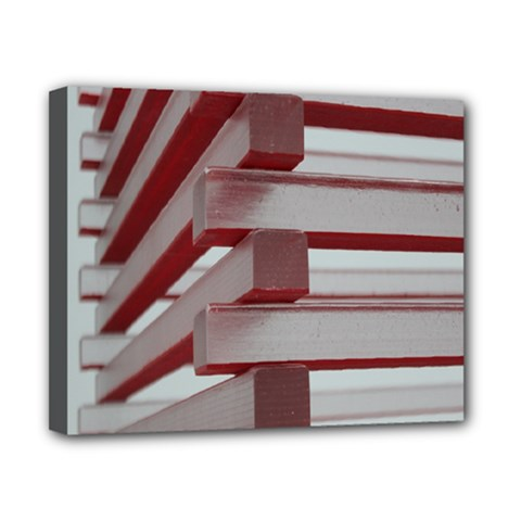 Red Sunglasses Art Abstract  Canvas 10  x 8