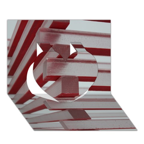 Red Sunglasses Art Abstract  Heart 3D Greeting Card (7x5)