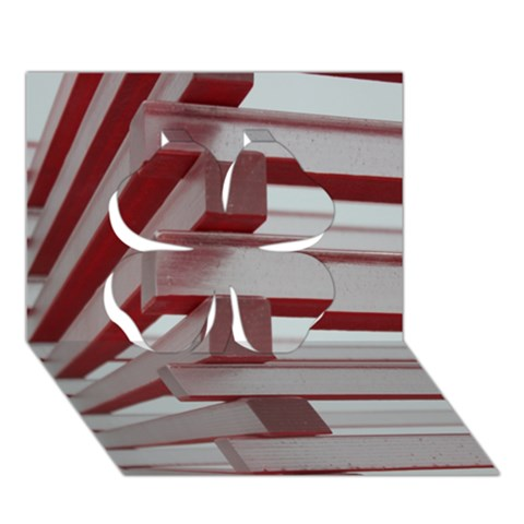 Red Sunglasses Art Abstract  Clover 3D Greeting Card (7x5)