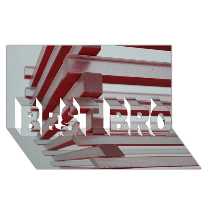 Red Sunglasses Art Abstract  BEST BRO 3D Greeting Card (8x4)