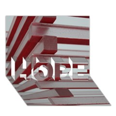 Red Sunglasses Art Abstract  HOPE 3D Greeting Card (7x5)