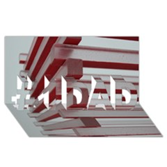 Red Sunglasses Art Abstract  #1 DAD 3D Greeting Card (8x4)