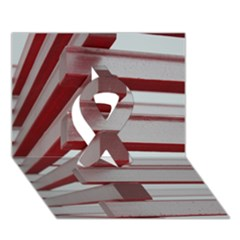 Red Sunglasses Art Abstract  Ribbon 3D Greeting Card (7x5)