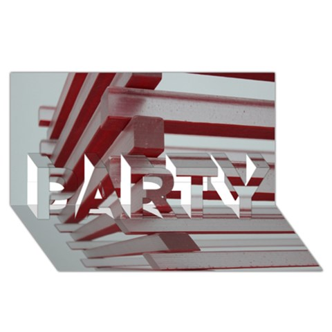 Red Sunglasses Art Abstract  PARTY 3D Greeting Card (8x4)