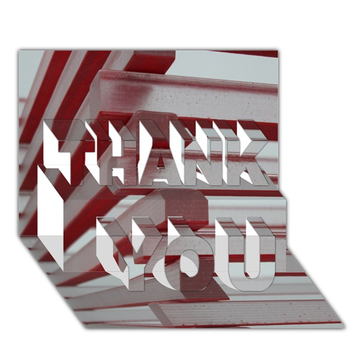 Red Sunglasses Art Abstract  THANK YOU 3D Greeting Card (7x5)