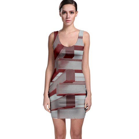 Red Sunglasses Art Abstract  Sleeveless Bodycon Dress