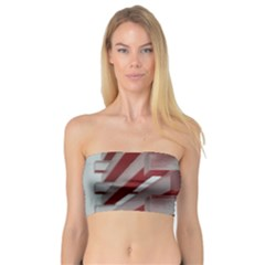 Red Sunglasses Art Abstract  Bandeau Top