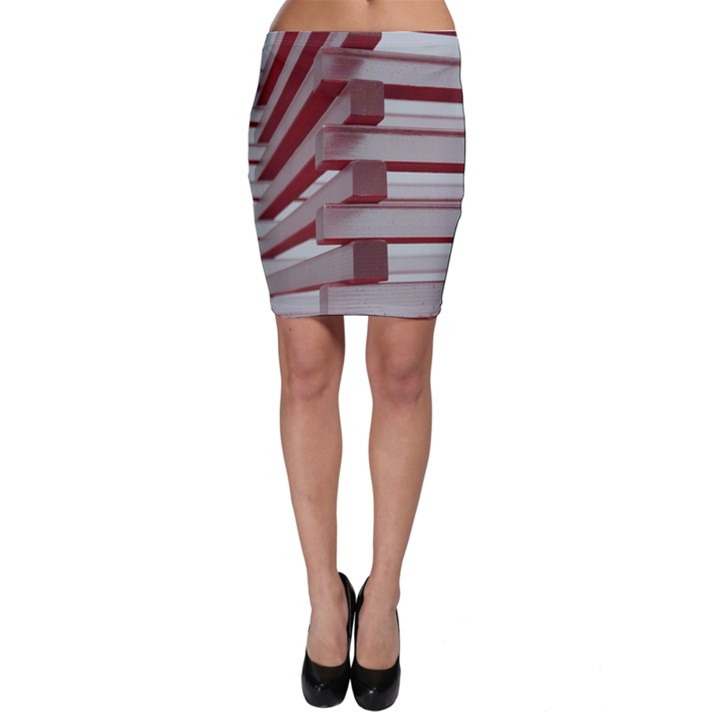 Red Sunglasses Art Abstract  Bodycon Skirt