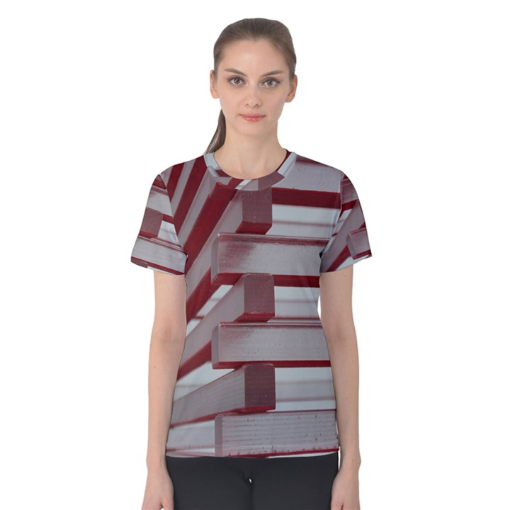 Red Sunglasses Art Abstract  Women s Cotton Tee