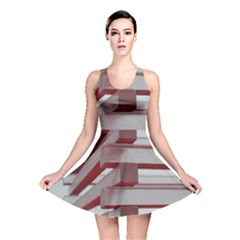 Red Sunglasses Art Abstract  Reversible Skater Dress