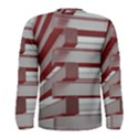 Red Sunglasses Art Abstract  Men s Long Sleeve Tee View2